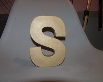 8' Paper Mache Letter S