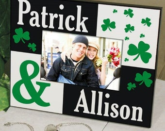 Irish Couple Personalized Frame, Couple's St. Patrick's Day Photo Frame