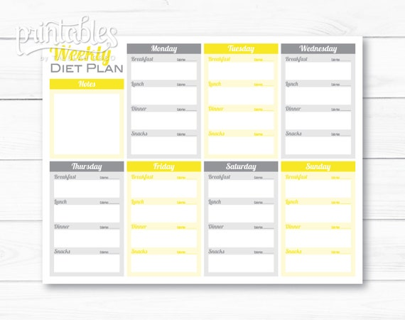 Meal planner with calorie counter weekly diet planner meal planner with calorie counter weekly diet planner editable printable meal planner for weight loss menu planner template fitness plan pronofoot35fo Choice Image