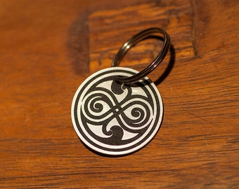 Doctor Who Seal of Rassilon Key Chain - Doctor Who Timey Wimey Gallifrey