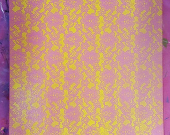 Pink and Yellow Lace
