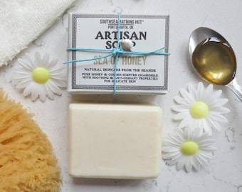 Honey & Chamomile Soap from the Coast // Handmade Soap, Natural Soap, Honey, Chamomile, Skincare, Sensitive Skincare, Sensitive