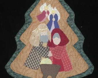 Appliqued Nativity Scene