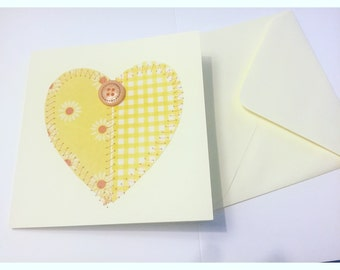 Sunshine Floral Love Heart Card
