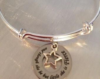 And though she be but little she is fierce Bracelet