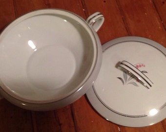 Vintage Noritake Natalie; Lily of the Vally,  Covered Casserole, soup tureen Covered vegetable, mismatch
