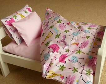 Bedding for an IKEA Duktig doll bed