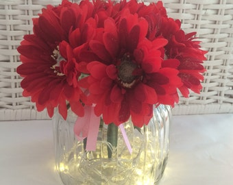 Christmas Festive Red Gerbera Flower Pen