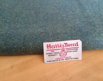 Harris Tweed Cloth Fabric Forest Green Luxury Handwoven 100% Pure Virgin Wool handwoven in Outer Hebrides Scotland