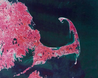 Cape Cod Bay Satellite Map