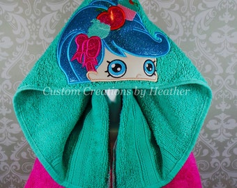 Shopkins Shoppies Jessicakes Inspired Hooded Towel on High Quality Belk Department Store Towels