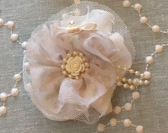 Vintage style clip or headband