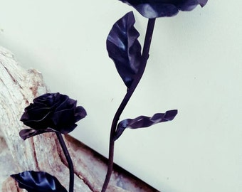 Wrought iron rose, anniversary,valentine, flower, blacksmith forged.