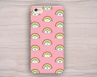 Rainbow iPhone Case, Hearts iPhone Case, Cute iPhone Case, Kawai iPhone Case, iPhone 5 Case, iPhone 6s Case, iPhone 6s Plus Case