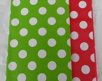 Pink And Black Plastic Table Covers White Polka Dot Great For