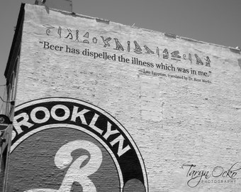 Brooklyn Brewery Black and White Photography Print