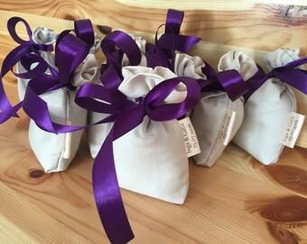 Wedding fevours Graduation Favor Wedding guest gifts- Satine bag - Personalized sachet bags- lavender sachet- custom labels-wedding gift - c