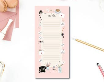Weekly Notepad   Illustrated Desk Notepad   To Do List   Hand Drawn   Pretty Desk Notepad   Make Time for You Notepad To-Do Pad
