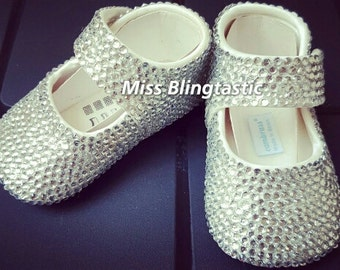 Crystal Embellished Baby Shoes