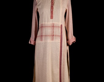 Patchwork Kurta in Red
