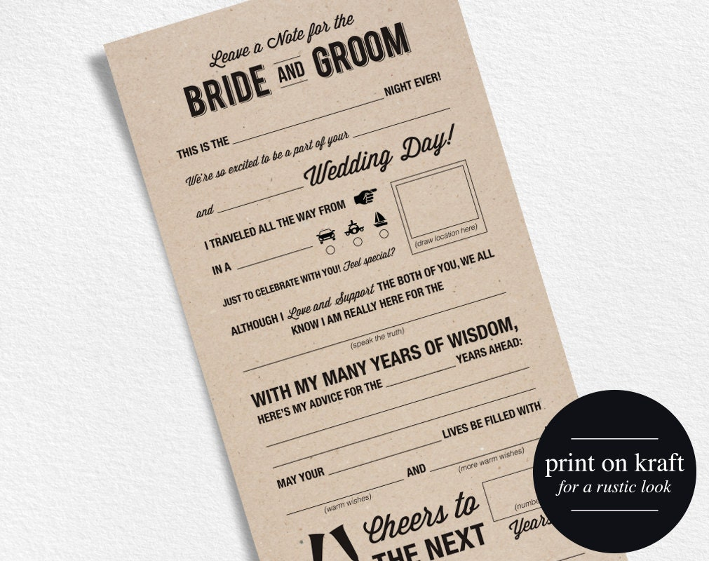 image about Wedding Mad Libs Printable named Marriage ceremony Insane Libs Printable Template Marriage Keepsake By way of