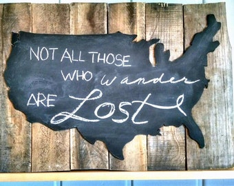 Reclaimed wood USA map