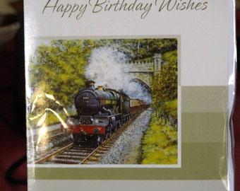 Stream Train Birthday Card