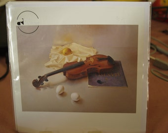 Violin with Eggs Card