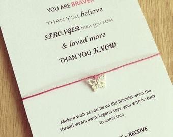 Always remember (pink version)   wish bracelet