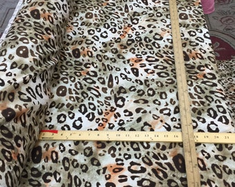 100% rayon challis Gorgeous animal print Fabric by the yard