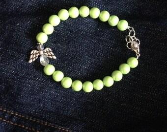 Lime Green Angel Bracelet