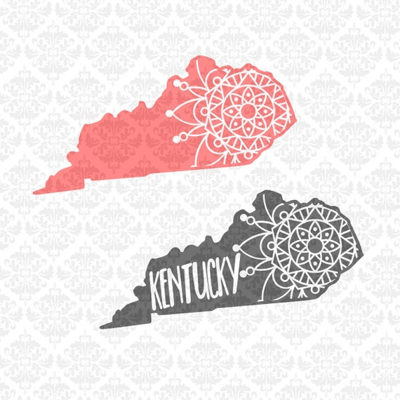 Kentucky Filigree Mandala Zentangle Intricate Henna Boho SVG DXF Ai Eps PNG Vector Instant Download Commercial Cut File Cricut Silhouette