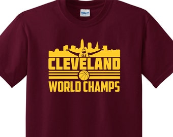 World Champions Cleveland Basketball T Shirt CLE Dawg Pound Ohio State Funny Lebron James #AllIn