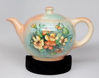 Hand Painted Vintage Ceramic Tea Pot 1952