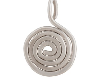Silver spiral necklace Spiral pendant Gift for Her Gift for him -  free shipping