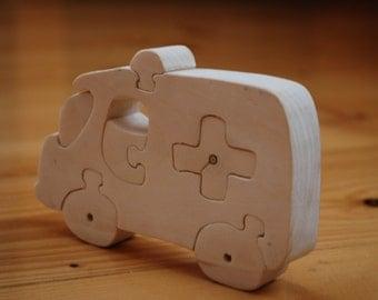 Car puzzle  Ambulances puzzle  Ambulances  Wooden car  Wooden toy car  Wooden toy Classic Wooden Car Wooden car Waldorf toy Eco friendly toy