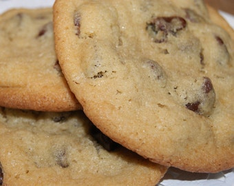 GLUTEN FREE Chocolate Chip Cookies - One dozen, homemade, edible gift, Loved by all dessert, diet restricted dessert