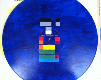 Coldplay Album Art Custom Painting on Vinyl Record - X&Y