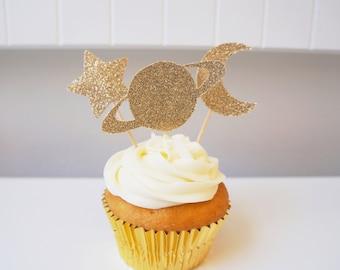 Galaxy Cupcake Toppers