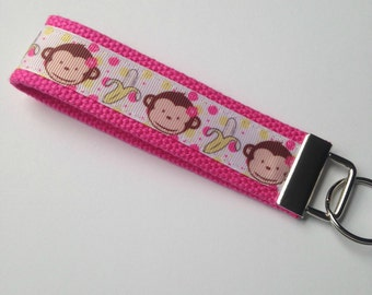 Cute Monkey Key Fob/Key Chain Wristlet