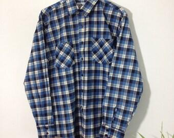 Vintage Light Blue Check Shirt