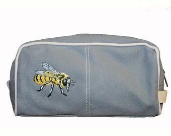 Honey Bee Shaving Bag, Perfect Gift for Him, Boyfriend or Father's Day, Great Beekeeper, Unique and Cool Gift, Birthday, Christmas, Wedding