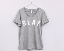 slay shirt loose neck bey