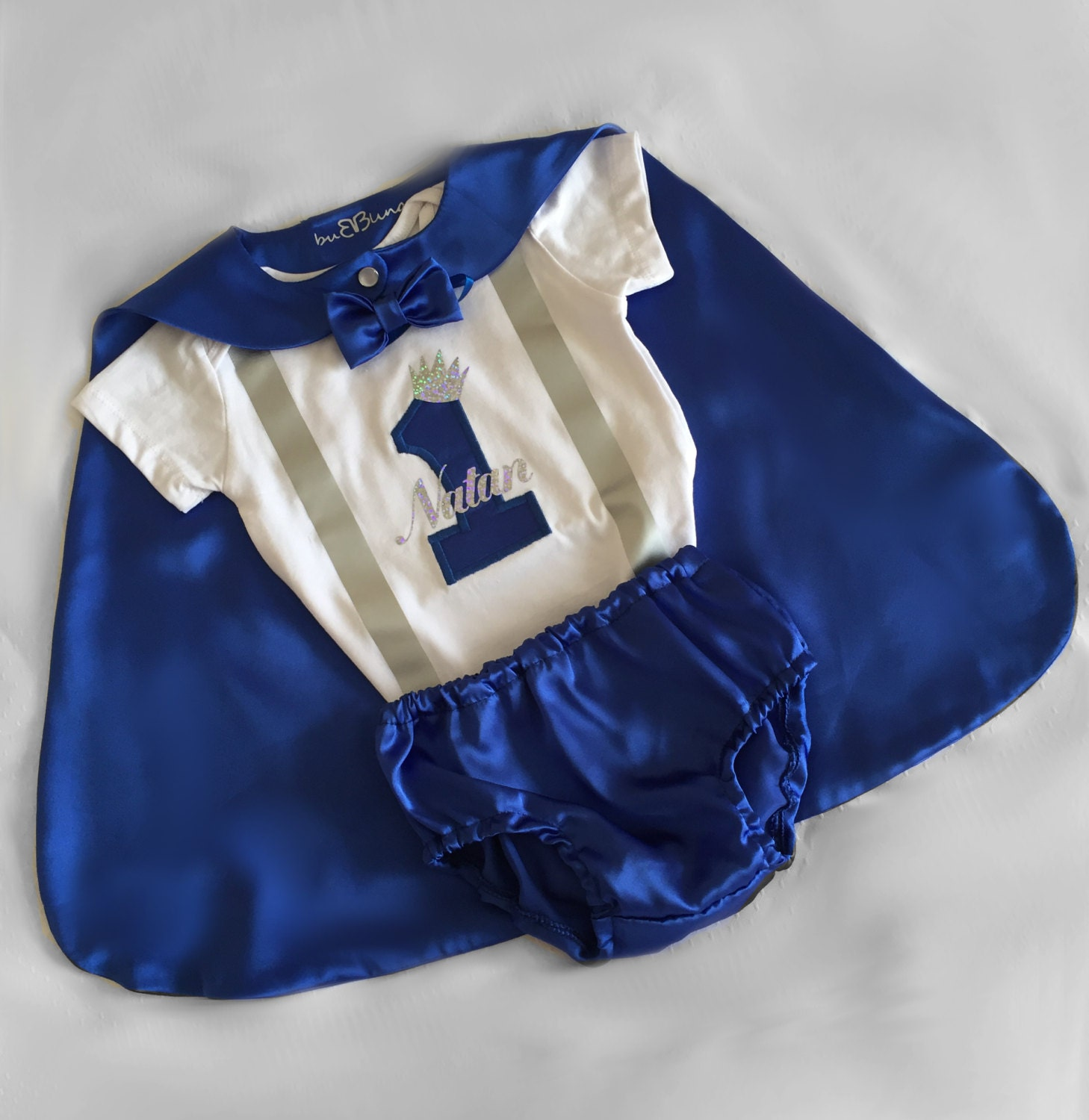 Baby Boy Blue 1st Birthday Outfit Royal Little Prince