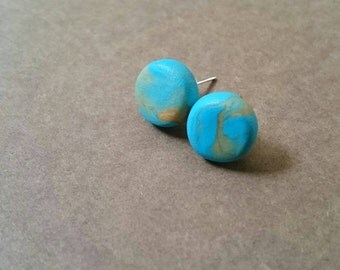 Earrings turquoise and gold