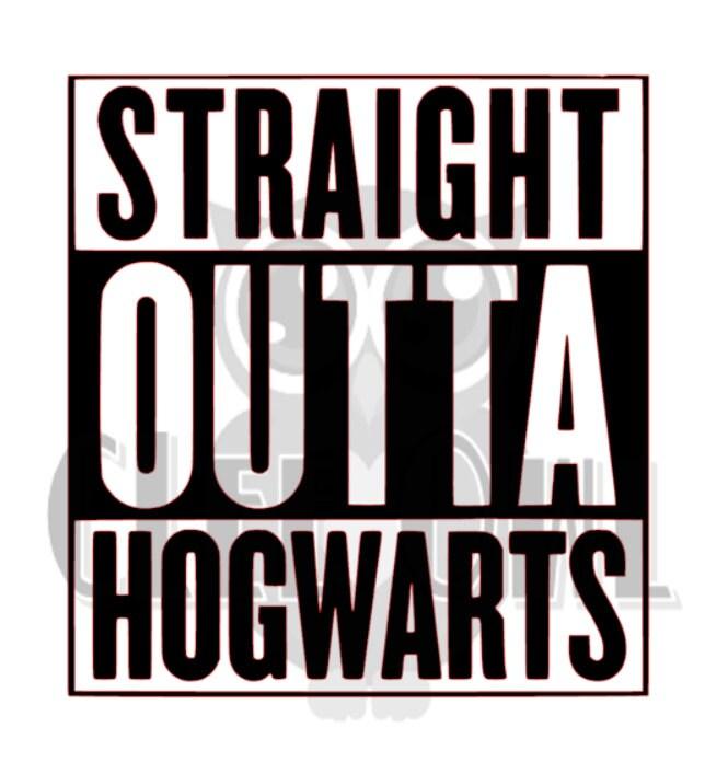 Straight outta hogwarts hp vinyl sticker decal - Hogwarts decal ...