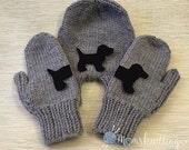 Dog Mitten, Custom Color Mitten Set, Special Gift, Animal Pet Lovers, Smitten Mitten Set