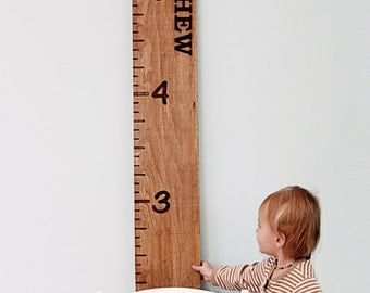 Wooden Growth Chart - Personalized Wood Growth Chart - Engraved Ruler - Measuring Stick - Oversize Ruler - Custom Nursery Decor - Baby Gift