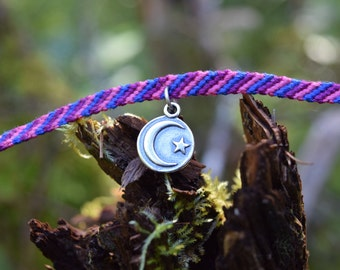 Dusk: Collectible fairy friendship bracelet with charm