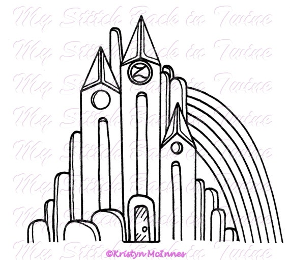 emerald city coloring pages - photo#29